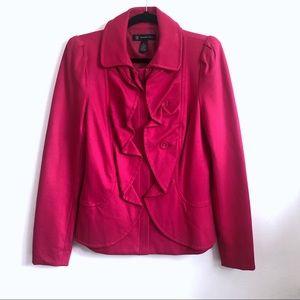 INC x Macy's Hot Pink Ruffles Fitted Blazer L